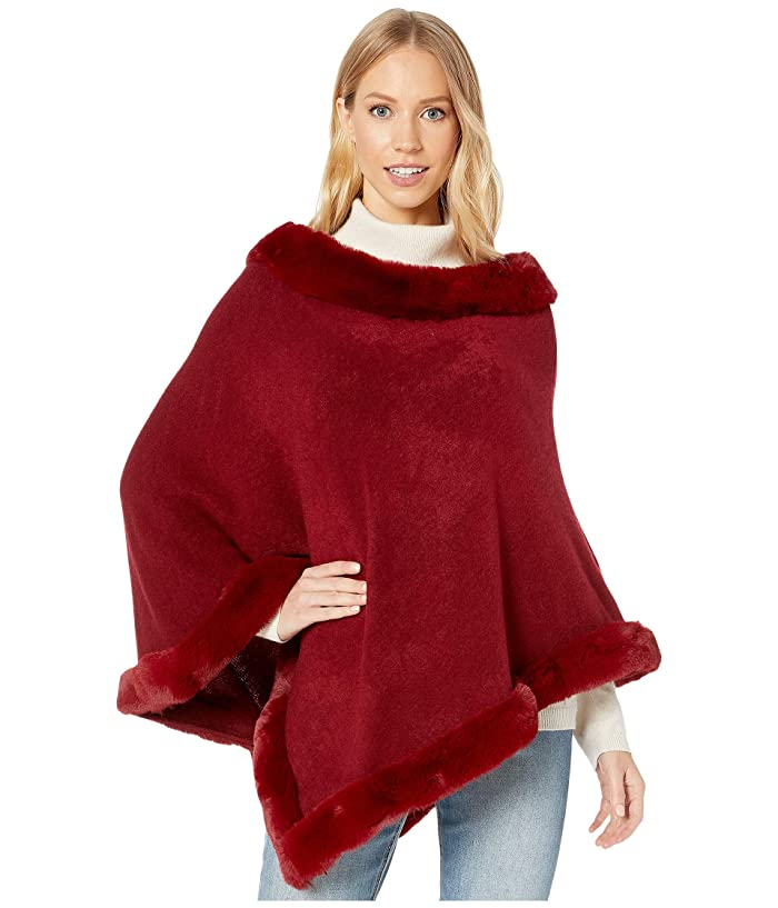 Victorian Capelet, Cape, Cloak, Shawl, Muff Love Token Kendra Poncho Burgundy Womens Clothing $135.00 AT vintagedancer.com