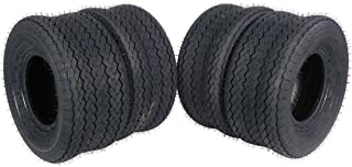 MASSFX SL18858(x4) 4 PLY Golf Cart Turf Tires 18x8.5-8 18x8.50-8 18x8.50x8, Set of four (4) Tires