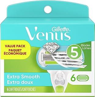 تیغ ریش تراش زنانه Gillette Venus Extra Smooth - 6 بارگیری مجدد