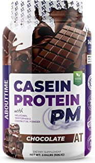 AboutTime Casein Protein Chocolate 2 Pounds - 20 Grams Protein, Nighttime Recovery Formula, No Artificial Sweeteners, No Growth Hormones