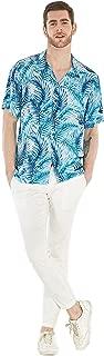 Men's Hawaiian Shirt Aloha Shirt Simply Blue Leaves