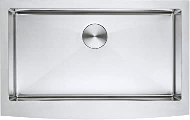 ZUHNE Stainless Steel Farmhouse Kitchen Sink (33-Inch Apron Front, 16-Gauge Single Bowl)