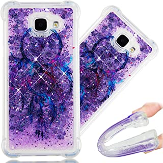 A5 2016 Case, 3D Cute Painted Glitter Liquid Sparkle Floating Luxury Bling Quicksand Shockproof Protective Bumper Silicone Case Cover for Samsung Galaxy A5 2016 A510.