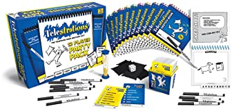 USAOPOLY Telestrations Party Pack 12 Player | 600 New Phrases to Sketch | Family Board Game | A Fun Family Game for K...