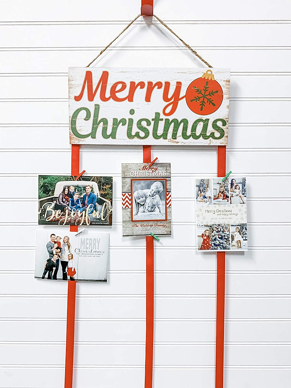 Max 79% OFF Christmas Card Holder - Max 74% OFF ornament Merry