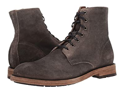 Frye Bowery Lace-Up (Faded Black Distressed Oiled Suede) Men