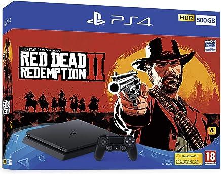 Sony PlayStation 4 500GB Console (Black) with Red Dead Redemption 2 Bundle [Importación inglesa]