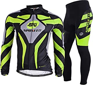 sponeed Men's Bicycle Clothing Long Sleeve for Road Bike Mountain Biking Pants Jersey