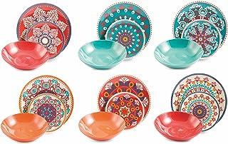 comprar comparacion VILLA D'ESTE HOME Vajilla 18 Piezas Shiraz Multicolor