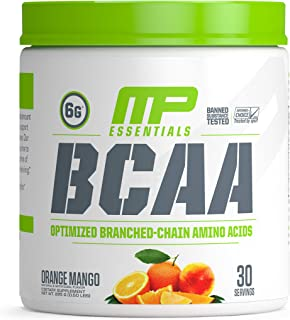 MusclePharm Essentials BCAA Powder, Post-Workout Recovery Drink, Orange Mango, 30 Servings