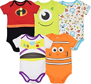 Baby Unisex 5 Pack Bodysuits - Mickey Mouse, Lion King & Pixar