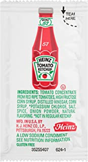 Heinz Ketchup Low Sodium Single Serve (0.3 oz Packets, Pack of 1000)