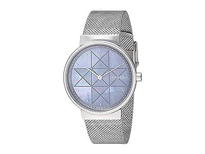 Skagen Annelie Two-Hand Stainless Steel Mesh Watch (SKW2833 Silver Stainless Steel Mesh) Watches