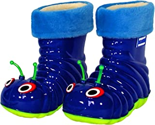 Waterproof Rain Boots for Little Kids Girls Boys and Toddlers - Fun Comfortable Animal Designed Shoes