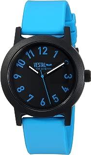 Vestal Alpha Bravo 10 ATM Japanese-Quartz Watch with Plastic Strap, Blue, 20 (Model: ALP3P06)