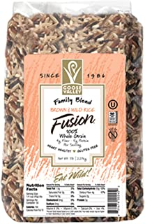 Goose Valley Brown and Wild Rice Fusion - Family Blend 5 lbs Pack of 2 - Variety of Vegan Friendly and Gluten-Free Rice