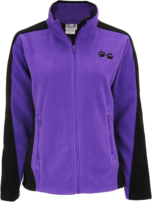 GreaterGood Paw Print Zip Fleece Jacket