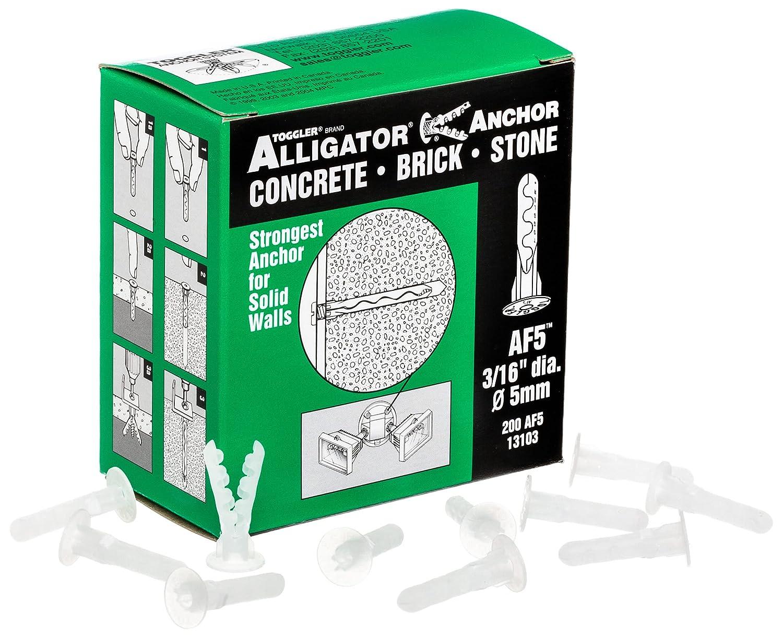 High material Department store TOGGLER ALLIGATOR AF5 Flanged Anchor US Made Polypropylene in