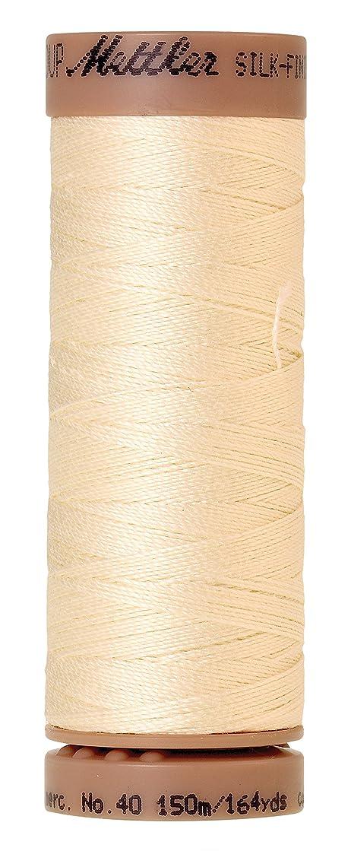 Mettler Silk-Finish 40 Weight Solid Cotton Thread, 164 yd/150m, Antique White