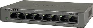 NETGEAR スイッチングハブ ギガビット 8ポート ファンレス 設定不要 省電力設計GS308-100JPS