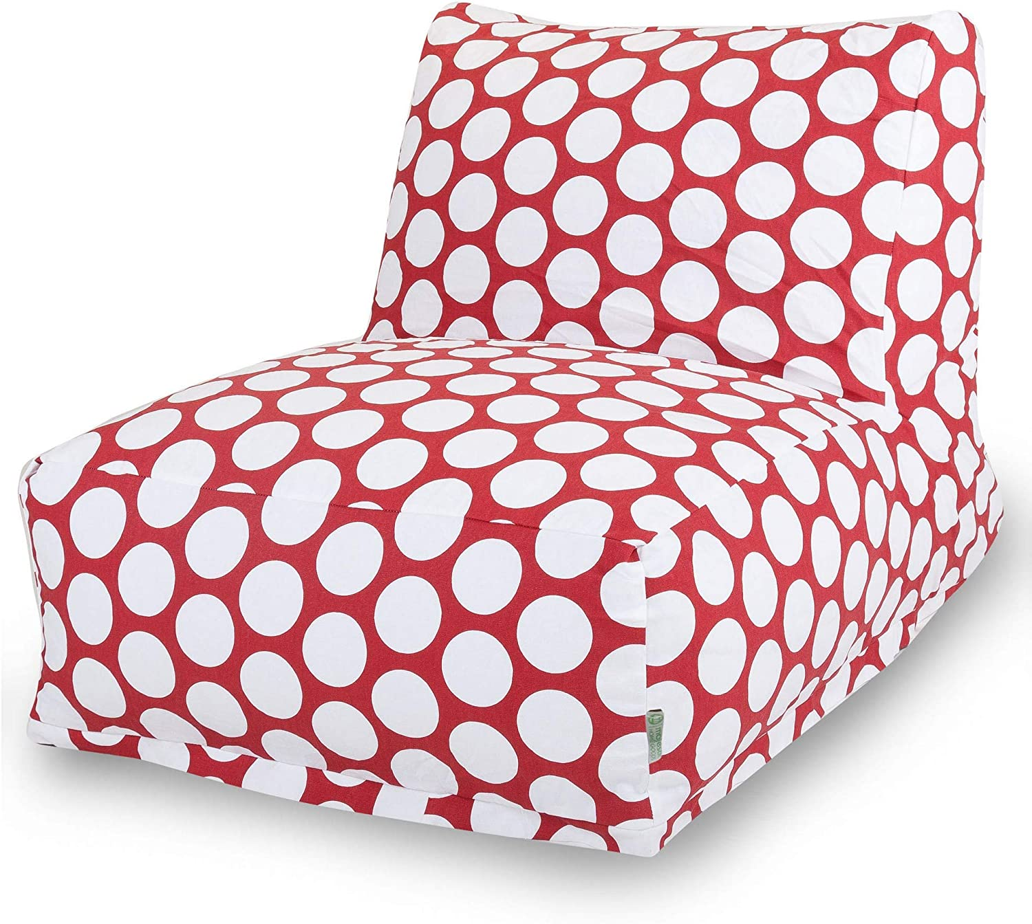 Majestic Home Goods Red Hot Large Polka Dot Bean Bag Chair Lounger