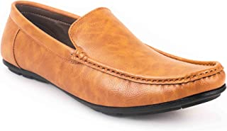 Levanse Matt Tan Synthetic Leather Corporate Casual Loafer Shoes for Men/Boys