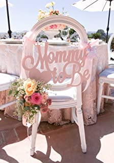Baby Shower Chair Sign Mommy to Be Wooden Cutout in Custom Colors for Baby Shower Decoration for New Mom Pink Blue Etc