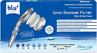 Ionic Shower Filter (Generation X - Limited Edition) Natural Immune System Booster, Rejuvenate Your Hair & Skin - Handheld