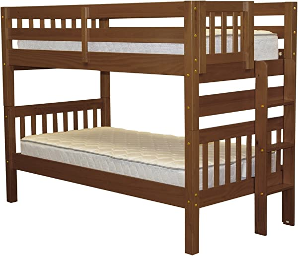 Bedz King Bunk Bed Twin Over Twin With End Ladder Espresso