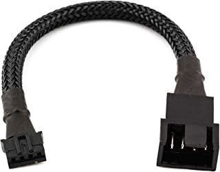 CRJ 4-Pin PWM GPU Fan Adapter Cable All Black Sleeved for Graphics Cards