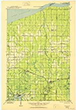 YellowMaps Brule WI topo map, 1:48000 Scale, 15 X 15 Minute, Historical, 1947, Updated 1950, 27.3 x 19 in