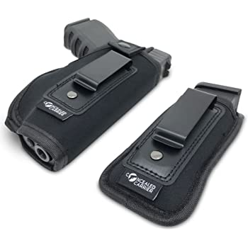 Concealed Carrier (TM) Universal IWB Holster for Concealed Carry | Inside The Waistband | Fits All Firearms S&W M&P Shield 9/40 1911 Taurus PT111 G2 Sig Sauer Glock 19 17 27 43 (Right-Handed)
