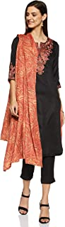 BIBA Women's Straight Salwar Suit Set
