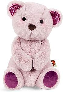 B. toys by Battat – Happy Hues – Jolly Jelly Bear – Soft & Cuddly Plush Teddy Bear – Huggable Stuffed Animal Bear Toy – Washable – Babies, Toddlers, Kids, Multi, 12 inches (BX1855C30Z)