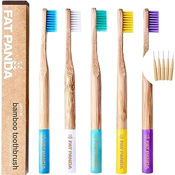 Pincel de dientes de bambú. Pasta de dientes natural ...