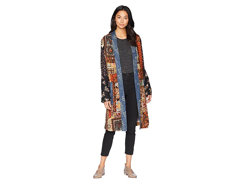 Free People Songbird Patched Coat (Blue Combo) Women