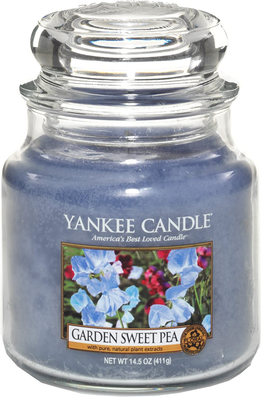 Yankee Candle 14.5 Oz Jar Candle Garden Sweet Pea