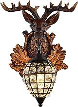 Modeen 1-Light Vintage Creative Resin Wall Lamp Retro Industrial Resin Crystal Rural Countryside Wall Light E27 Edison Bar...
