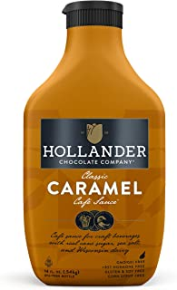 Classic Caramel Cafe Sauce by Hollander Chocolate Co Gourmet Caramel Sauce for Perfect for the Professional or Home Barist...