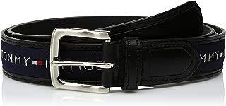 Tommy Hilfiger Men's Ribbon Inlay Belt - Ribbon Fabric...