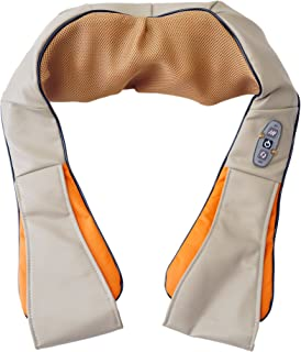 Spagro Amasamiento Amasadura Shiatsu Masaje Terapia de calor por infrarrojos Masajeador Para los Hombros Espalda del cuello Alivio del Dolor con Adaptador para Automóvil