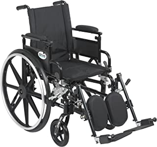 Drive Medical Viper Plus GT Wheelchair with Flip Back Removable Adjustable Desk Arms, Elevating Leg Rests, 18