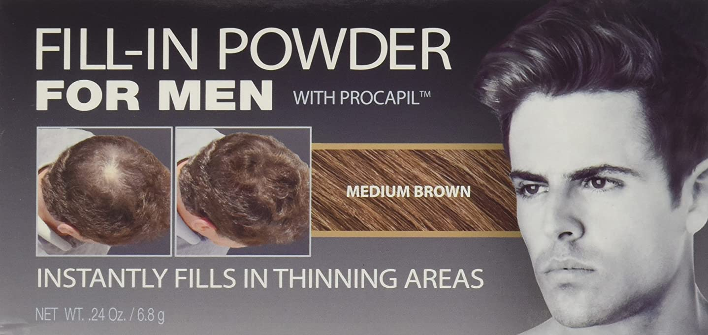 以降しわ土砂降りCover Your Gray Fill-In Powder for Men Medium Brown (並行輸入品)