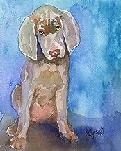 "Weimaraner Puppy Art Print   Weimaraner Gifts   From Original Painting by Ron Krajewski   Hand Signed in 8x10"" and 11x14"" Sizes"
