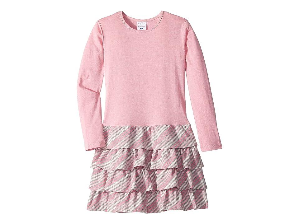 Toobydoo Ruffle Dress (Toddler/Little Kids/Big Kids) (Pink Stripe) Girl