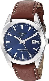 Mens Gentleman Swiss Automatic Stainless Steel Dress Watch (Model: T1274071604100)