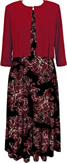 Julian Taylor Womens Plus Size Cap Sleeve V Neck Color Block Flare Dress