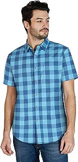Sponsored Ad - Lee Men's Short Sleeve Plaid Button Up Shirt, Regular Fit