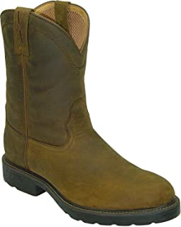 Men's Distressed Pull-On Work Boot Round Toe - Mwp0001