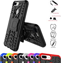 Huawei Honor 9 lite Case,Mama Mouth Shockproof Heavy Duty Combo Hybrid Rugged Dual Layer Grip Cover with Kickstand for Huawei Honor 9 lite (with 4 in 1 Packaged),Black